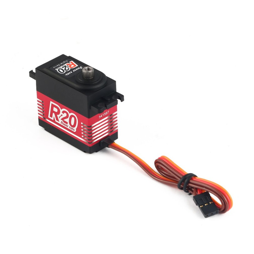 POWER HD R20 R25 Alloy Gear Digital Coreless High Voltage Servo with 20kg High Torque for