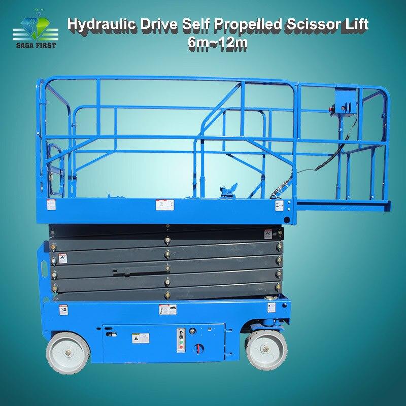 8m High Quality Aerial Lift Hydraulic Self Propelled Scissor Lift