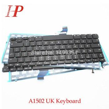 5PCS New A1502 UK keyboard With Backlight For Apple Macbook Pro 13'' Retina A1502 Keyboard UK Standard 2013 2014 2015