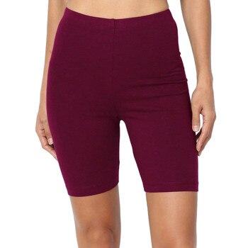 6 colors Women Fashion Solid High Elasticity Gym Active Cycling solid fitness shorts feminino chores para mujer 4