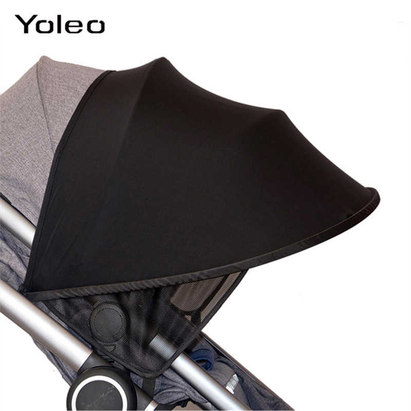 Portable Baby Child Pushchair Stroller Pram Buggy Sun Shade Cover Canopy Black