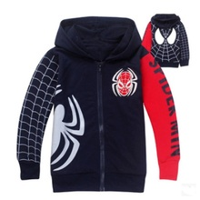 New Boys Spiderman Coat Kids Cotton Spring Jacket Chirdren Character Lovely Hoodies Outerwear Spider-man Boys Clothes new baby girls minnie jacket kids cotton keeping warm winter coat chirdren character lovely hoodies outerwear and girl s vest