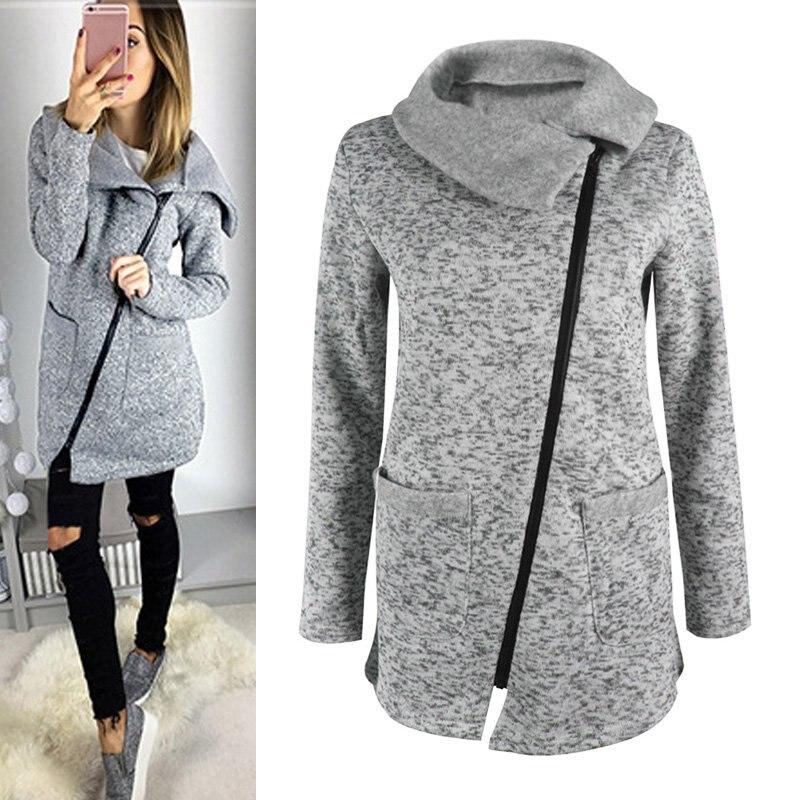 Cockcon  mujeres invierno cálido casual escudo chaqueta con capucha cremallera l