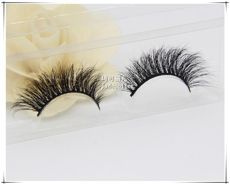 Ny stil charmerende 1 par 100% 3D ægte mink pels tyk lang blød - Makeup - Foto 3