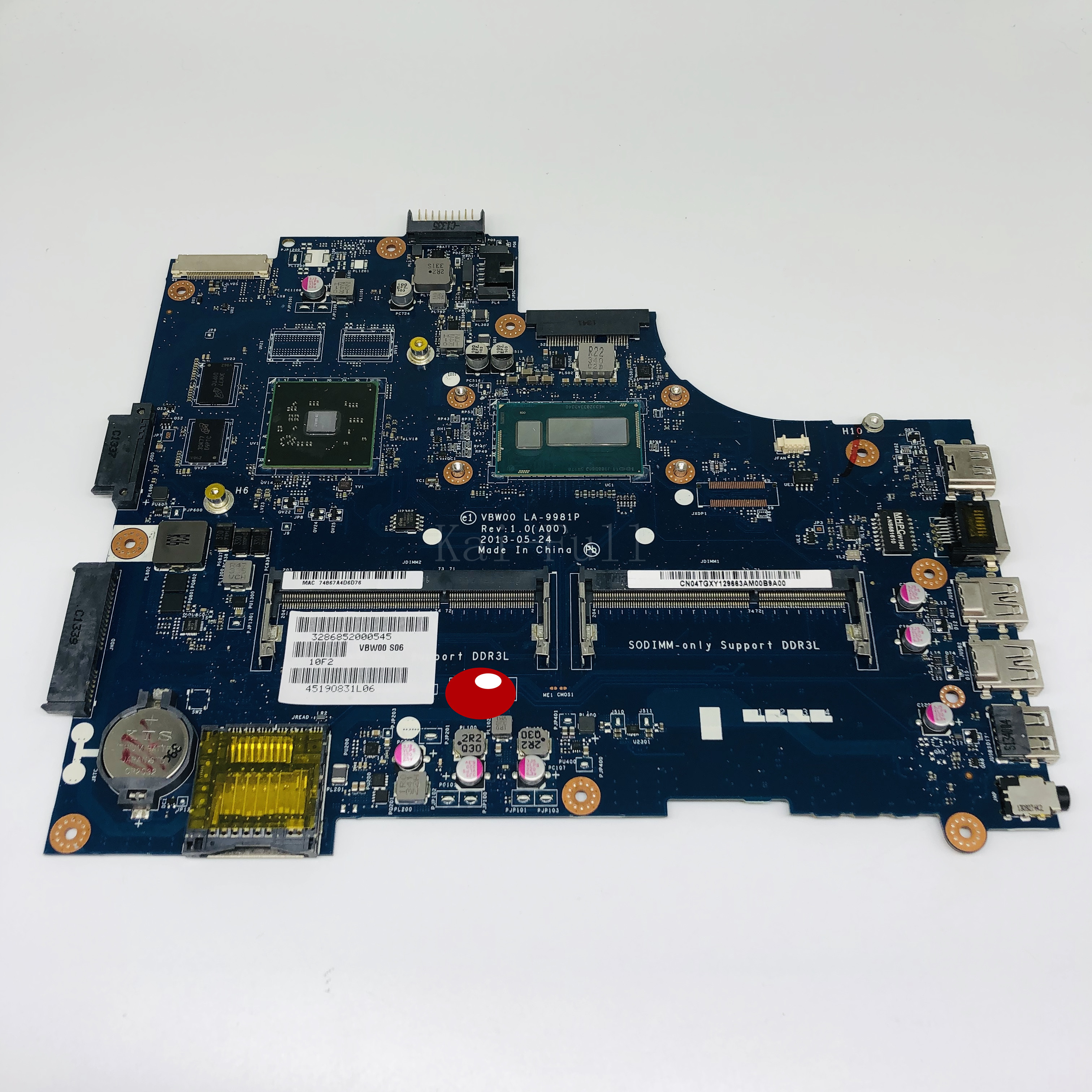VBW00 LA-9981P ноутбук материнская плата для Dell Inspiron 15R 3537 5537 Тесты оригинальная материнская плата I7-4500U AMD HD 8670 м