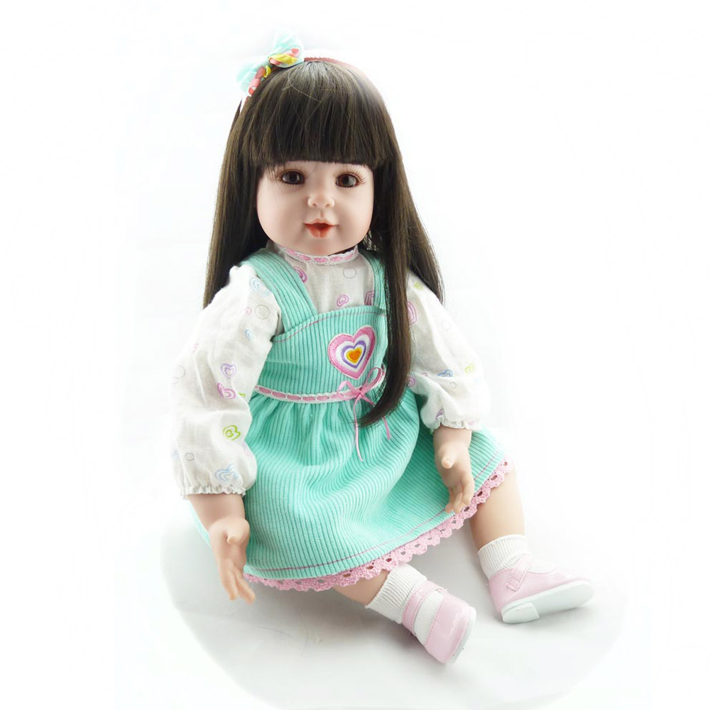 Pursue 20/51 cm Smile Girl Babies Reborn Long Hair With Accessories Like Life Real Girls Cloth Body Soft Weighted for Cuddle