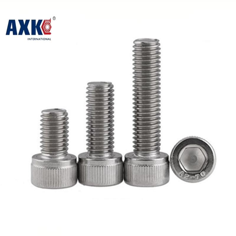 AXK 20pc DIN912 M5 x 8 10 12 14 16 18 20 25 30 Screw Stainless Steel A2 Hexagon Hex Socket Head Cap Screws 20pcs din7991 m6 10 12 16 20 25 30 35 40 45 50 m6 torx tamper proof security screw m5 a2 stainless steel anti theft screws