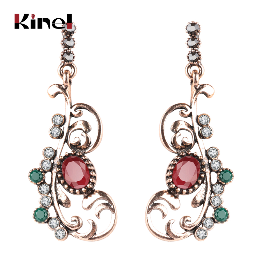 Furniture Intelligent Luxury Big Earrings For Women Long Earrings Turkish Jewelry Ancient Gold Color Unique Crystal Party Gift Accessories