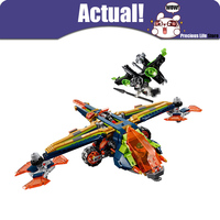 LEPIN 14044 Aaron's X bow Nexo Nexus Knights Building Blocks Bricks For Kids Toys DIY For Children Compatible with 72005