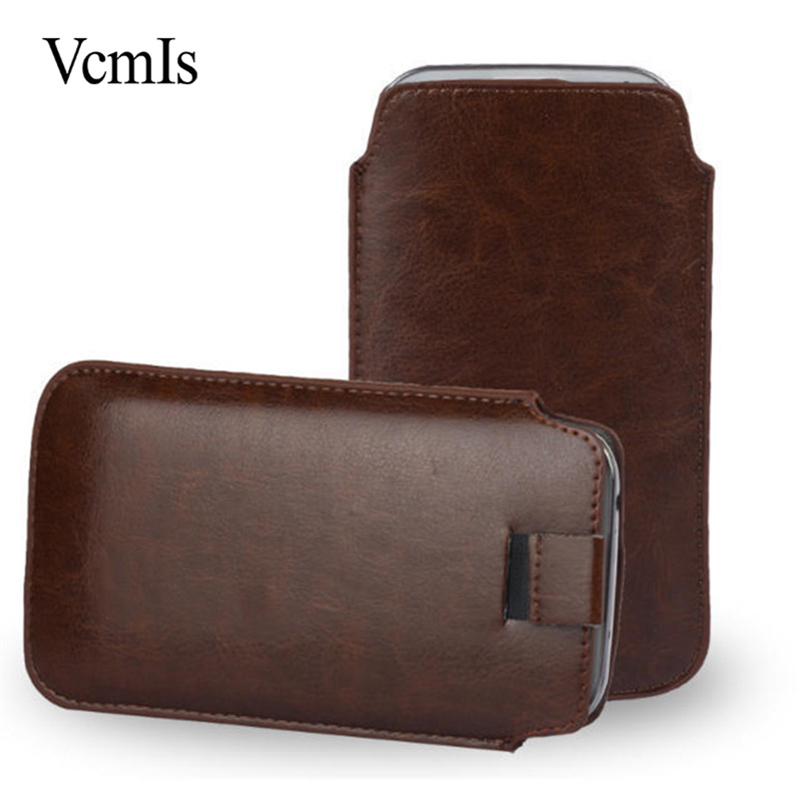 New PU Leather Pull Tab Sleeve Pouch For Just5 Freedom M303 C105 C100 X1 Mobile Phone Cases Bag Universal Full Protective Pouch image