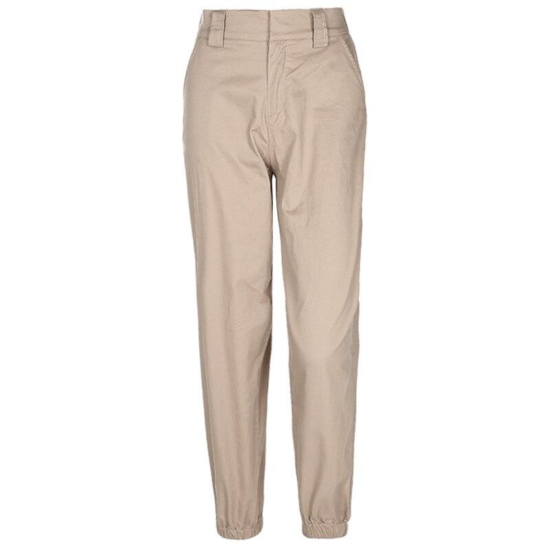 Coréen printemps mode Cargo pantalon femmes taille haute Stresswear kaki lâche dernier travail pantalon conceptions femme Joggers pantalon L248