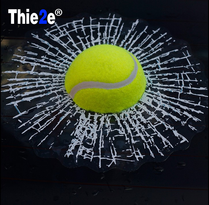 Sports Tennis Ball Decal Stickers For Boat Car Window Shattered Cracked Glass