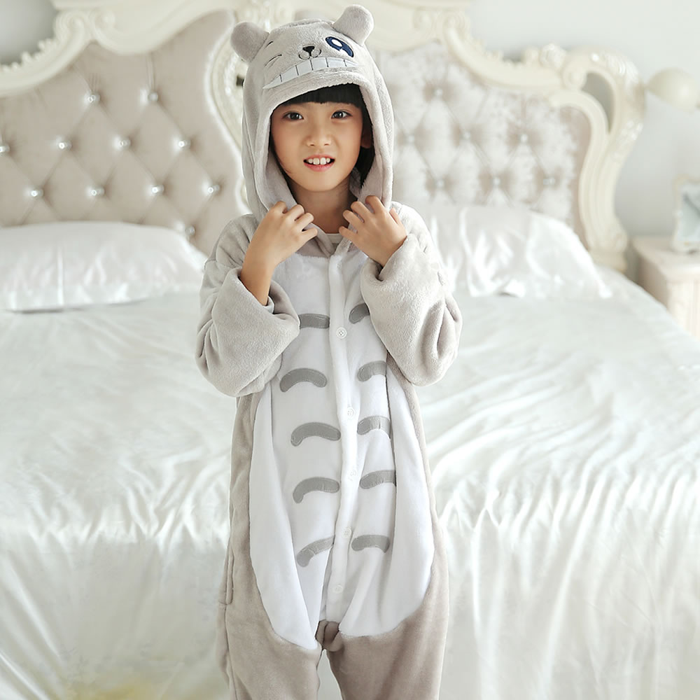 Kids Onesie Kigurumi Animal Totoro Pyjama Anime Cosplay Costume Onepiece Fancy Dress Sleepwear Jumpsuit Clothing