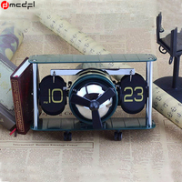 Home Decor Retro Flip Clock Vintage Digital Table Watch Mechanical Clocks Aircraft Plane Relogio De Mesa