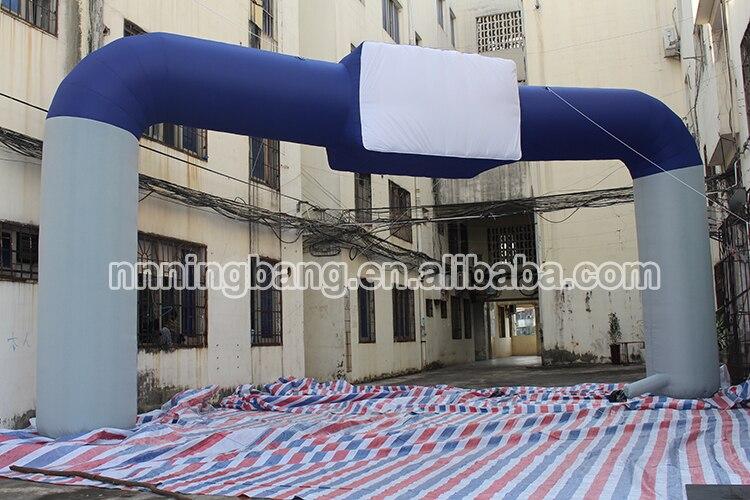 Бесплатная доставка Лидер продаж 4 м рост, 8 м ширина надувные арки для активного отдыха/темно синий надувные арки для спортивного мероприят