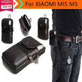 Genuine estojo de couro clipe de cinto bolsa de cintura bolsa para cobrir caso xiaomi mi5 m5 4g smartphone transporte da gota livre