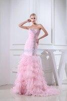 Livraison gratuite 2018 nouveau design cristal style à la main personnalisé taille/couleur warli robe de mariée sirène rose mère de la mariée robe
