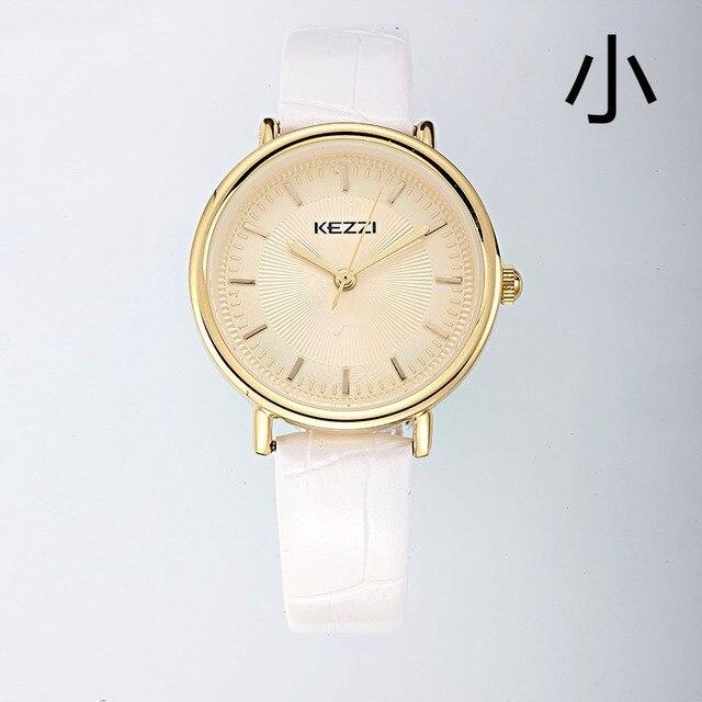 Amantes de los Relojes Marca kezzi Reloj de Pulsera Correa de Cuero de Calidad Superior Para Hombre Relojes Mujeres Reloj de cuarzo Resistente Al Agua reloj Ocasional k1450