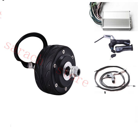 4 80w 24v double shaft electric wheel hub motor for for Scooter hub motor kit