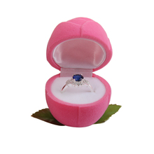 Pink Rose Velvet Ring Jewelry Display Lovely Engagement Wedding Originality Gift Storage Box Case Jewellery Holder Organizer large leather gift box for jewellery wedding party decoration display velvet organizer earing necklace ring packaging pink box