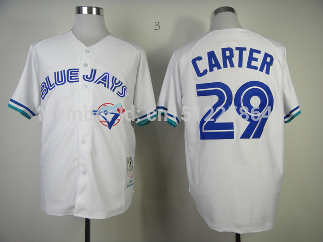 brand new 84a66 95133 toronto blue jays 29 joe carter gray throwback jersey