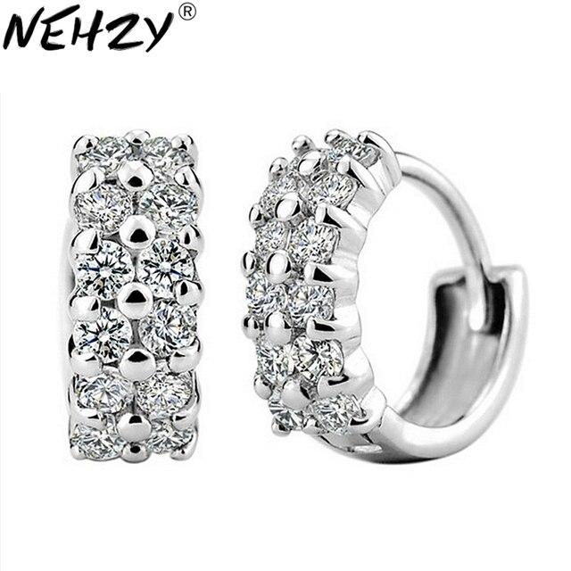 NEHZY Prata fivela selvagem duplo cristal senhoras encantadoras da forma da orelha de jóias fabricantes de jóias de prata de alta qualidade, atacado