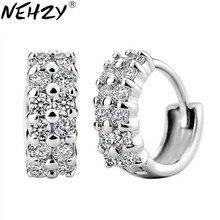 NEHZY hebilla de plata salvaje doble cristal ear jewelry lovely ladies fashion alta joyería de calidad fabricantes, venta al por mayor