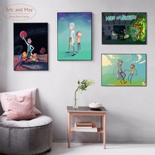 E-A-M Rick and Morty Fan Art Canvas Print Painting Posters Wall Pictures For Living Room Home Decoration Decor No Frame