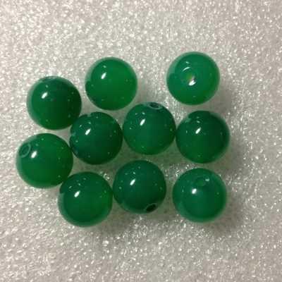 12 มม. หินธรรมชาติเครื่องประดับลูกปัดสีเขียว ball choker สร้อยคอต่างหู charms สร้อยข้อมือ Chrysoprase แก้ว lot