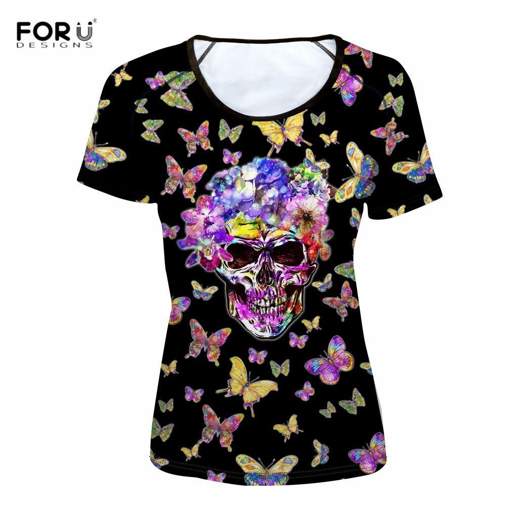 skull t shirt ladies