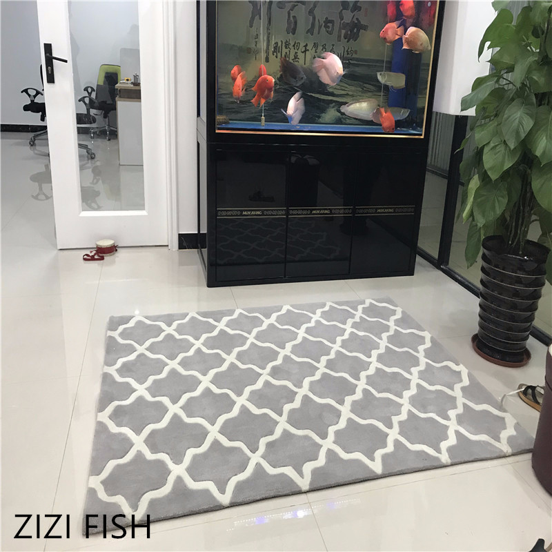 Fashion Gray Pattern Thicken Acrylic Living room Great carpet rug Bedroom Bedside Bedroom home prayer mat