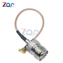 RG316 15cm Cable MCX Male Plug Right Angle To SO239 UHF Female Jack 6in Pigtail Connector