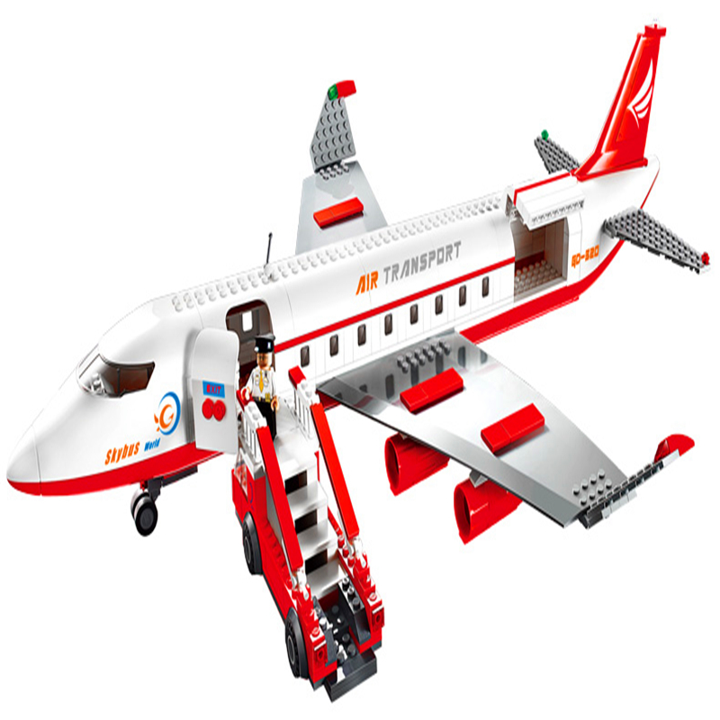 02044 Compatible With Lego 60102 City Airport Vip Service Private Plane Building Blocks Diy Model Bricks Educational Toys Blocks Model Building