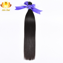 """Ali Afee Hair Products Peruvian Straight Hair Only 1 Pc Natural Black Remy Human Hair Extension 8""""-30""""No Tangling No Shedding"""