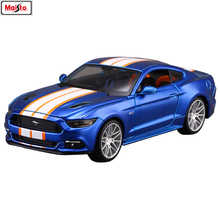 Maisto 1:24 Ford Mustang-GT manufacturer authorized simulation alloy car model crafts decoration collection toy tools maisto 1 24 ford mustang gt 1967 diecast model car toy cars model vintage car
