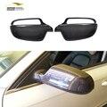 De fibra de carbono de reemplazo styling car side mirror covers ribetes para audi a4 b9 2013-2015 y a5 2010-2015 (ajuste No línea de emergencia)