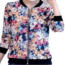 5x HOT women's long-sleeve short spring and autumn jacket zipper jackets female coat woman's clothing outwear red S