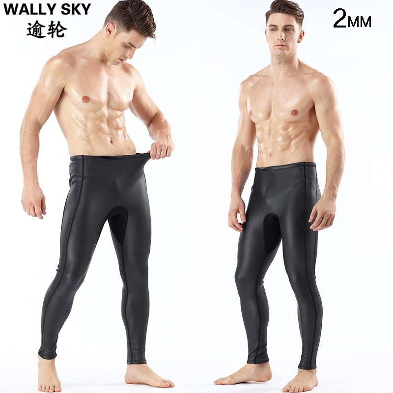 Men's 2mm Super Stretch Neoprene Wetsuit Pants Surf Scuba Diving Snorkeling Ankle-length Warm Swimming Trousers Leggings Tights ankle length pleated pants