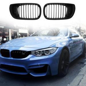 Image 2 - 1 Pair 전면 신장 그릴 ABS 자동차 레이싱 그릴 BMW 3 시리즈 E46 4 도어 02 05 318I 320I 325I 330I 자동차 스타일링 액세서리