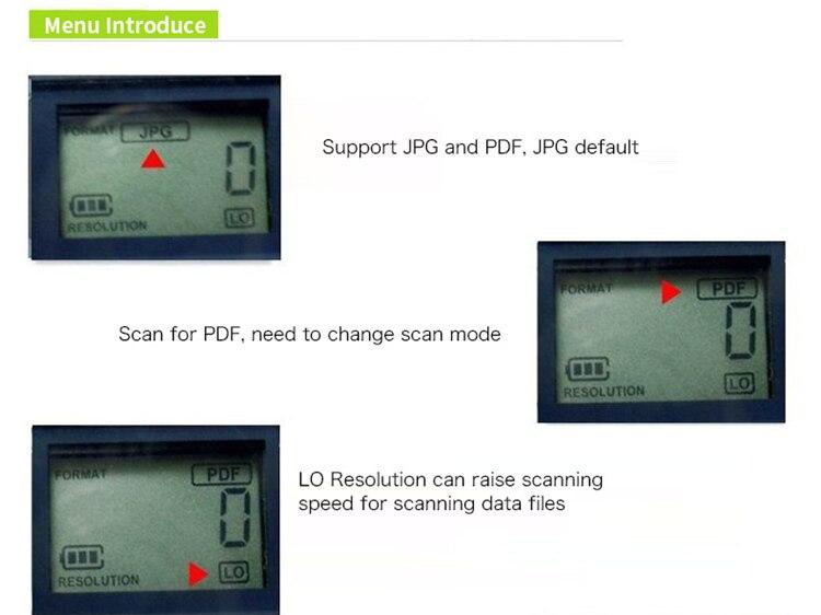 iscan portátil a4 scanner de documentos com