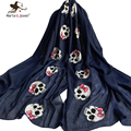 Cute Personalized Skeleton Skull Scarf and Wrap Spring Autumn Pure Color Soft Shawl and Pashmina Fashion Skull Scarves