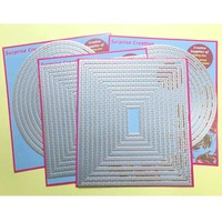 4 Set large Cutting dies with stitch Rectangle Square Circle Oval Cardmaking & Scrapbooking DIY Craft Stencil
