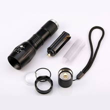 6000Lumens CREE XML-T6 Flashlight LED Torch Zoomable LED