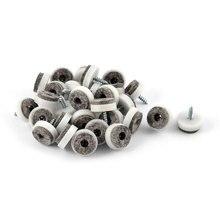 Round Shaped Nonslip Anti Scratch Screw Floor Felt Pads Nail Protectors 30Pcs