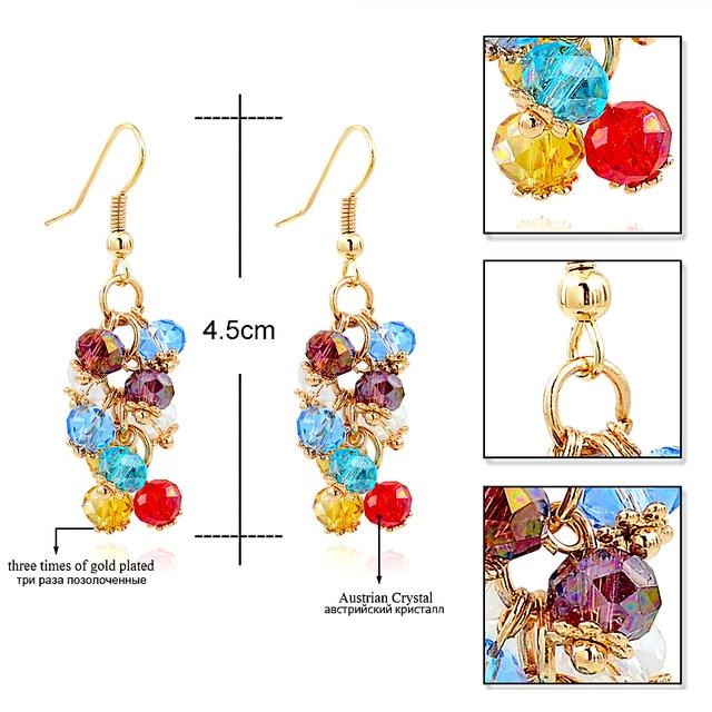 Купить chicvie модные ювелирные изделия золотого цвета хрустальные