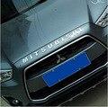 Accesorios aptos para la 2010-2015 mitsubishi asx/outlander sport/rvr frente capo de la capilla del cromo letras emblema insignia logo carta
