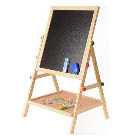 criancas de madeira 2 em 1 ajustavel apagavel dupla face magnetica quadro negro quadro quadro
