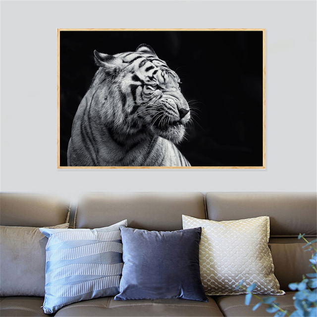 One Piece Posters Abstract Paintings Large Size White Tiger Wall ...