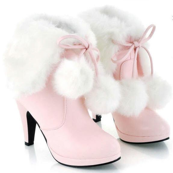 Popular Pink High Heel Boots-Buy Cheap Pink High Heel Boots lots