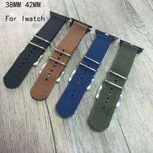 TJP Special Offer Black Blue Green Brown Nylon Sport Apple Watch 1 2 38MM 42MM Watchbands Iwatch Strap Bracelet With Adapter